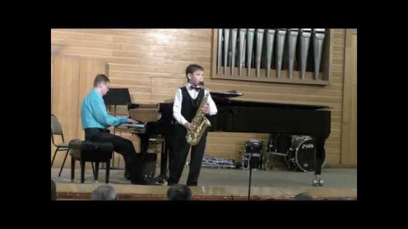 Иван Байбородин, саксофон, 10 лет, Мануэль де Фалья, Испанский танец