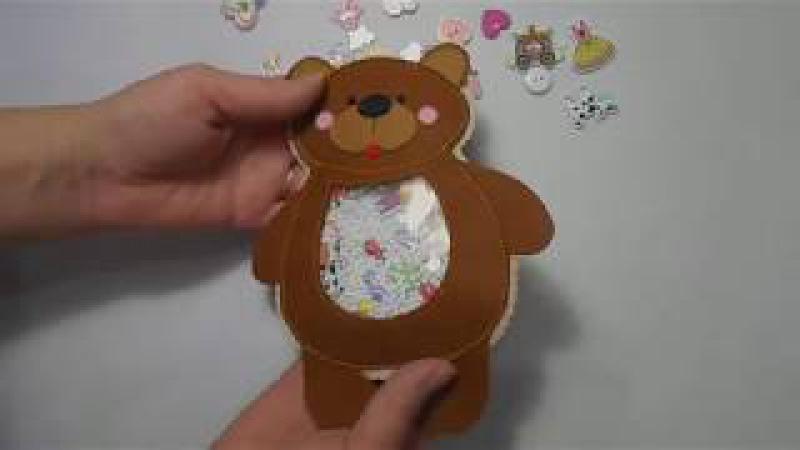 МК. Искалка с фетра , медвежонок . Baby toy. Master class.