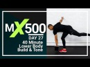 40 Minute Home Leg Workout with Dumbbells - Lower Body Weights Training for Strong Legs MX500 27