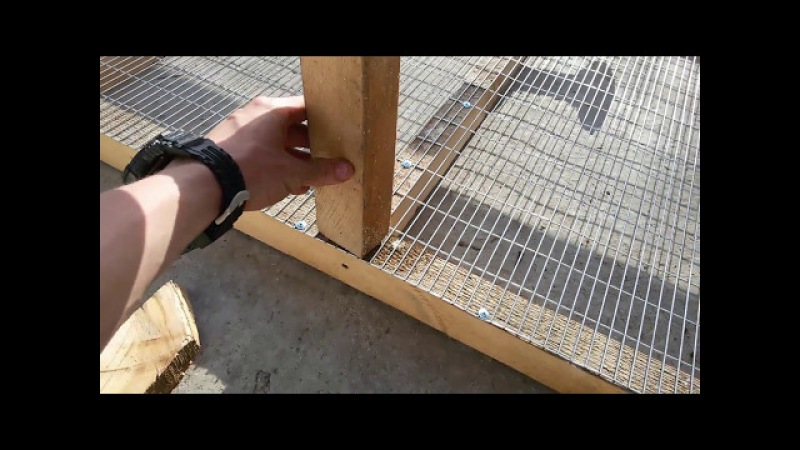 Клетка для кроликов, пошаговая постройка
