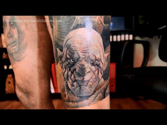 Татуировка с изображением Азога и Смауга - Lorenzo EM