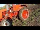 Пахота с трактором т-25