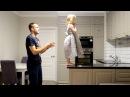 Challenge на доверие. Папа играет с дочкой. Падение вслепую. Очень милое видео.