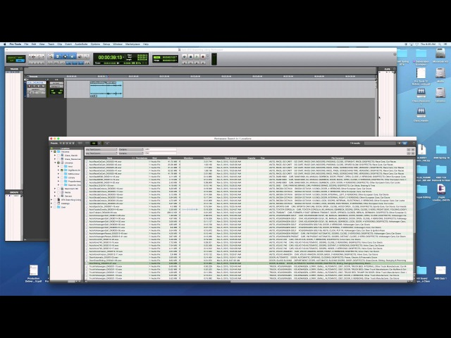 Sound For Picture Sound Effects SFX FX Searching Using Pro Tools' Workspace MTSU 4580