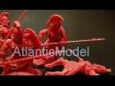 Солдатики 1/32 Conte 300 Спартанцев Set 1 красный цвет