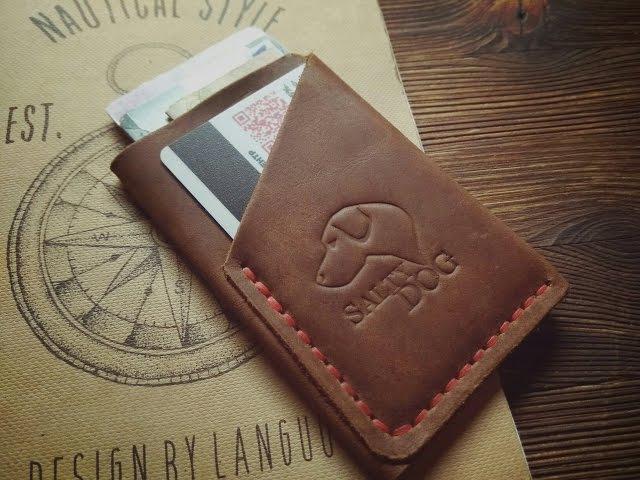 Картхолдер TWIST Making leather cardholder
