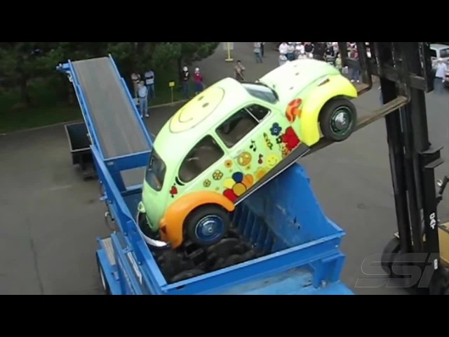 Nom nom nom! - The Monster Eats VW Beetle For Lunch