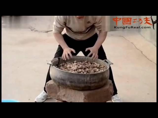 Shaolin training-Traditional Shaolin Kung Fu Iron Palm training video