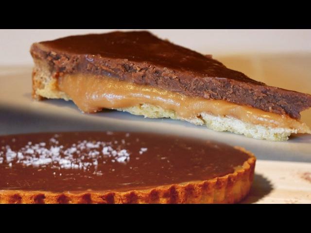 Chocolate Salted Caramel Shortbread Twix Tart - Treat Factory