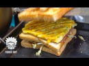 Ham Cheese Toast Korean Street Food Seomun Market Daegu Korea