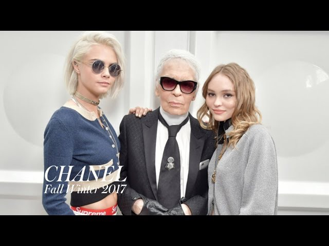 CHANEL Fall 2017 x Karl Lagerfeld, Cara Delevingne, Lily-Rose Depp Backstage | MODTV