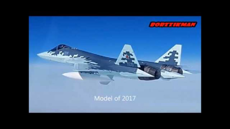 Russia made new model of SU-57 with new engine pixel camouflage consisting of classified materials