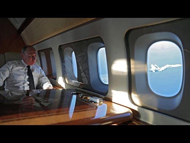 Cazas rusos escoltan a Putin en su vuelo de Siria a Egipto