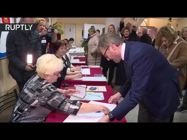 Титов отдал свой голос в Краснодарском крае на выборах президента России