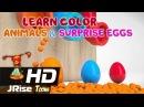 Изучаем цвета с животными и яйцами с сюрпризом 02 - Развивающий мультик для самых маленьких