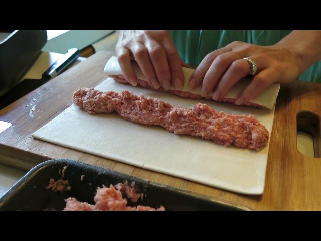АВСТРАЛИЯ 612:Пирожки с мясом из слоеного теста .