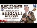 Afisha - Sherali Jo`rayev 19, 20, 21, 22 - yanvar kunlari konsert beradi 2018