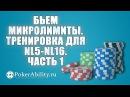 Покер обучение Бьем микролимиты Тренировка для nl5 nl16 Часть 1
