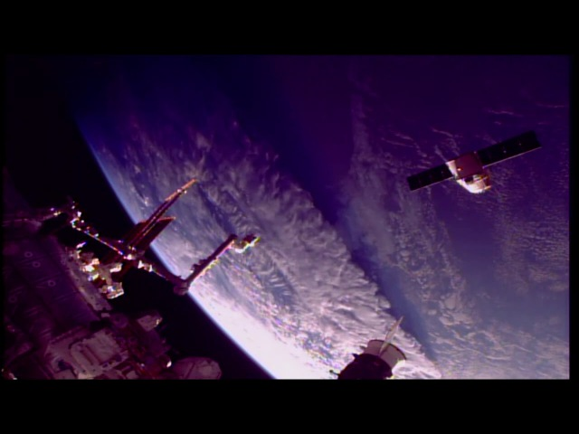 U.S. Commercial Cargo Spacecraft Departs International Space Station