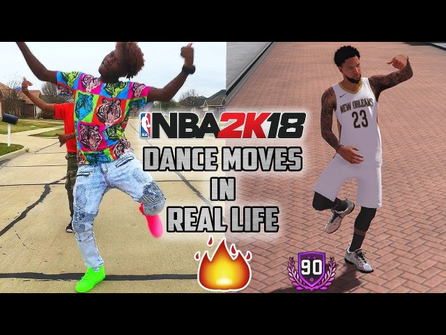 NBA 2K18 Dance Moves in Real Life (Hit Dem Folks, Milly Rock, Whip, Dab)