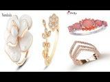 Лучшие женские модные золотые кольца в AliexprssЖенщины Модные Золотое кольцо обзор