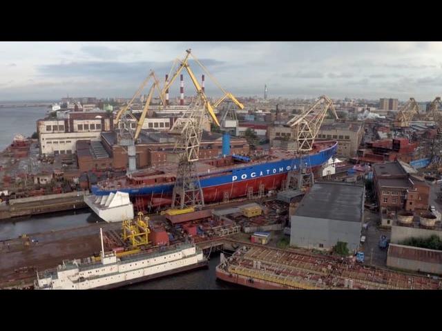 Спуск атомного ледокола Сибирь
