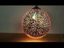 Подвесной декоративный светильник с 3D эффектом ☼ Квантовая медь