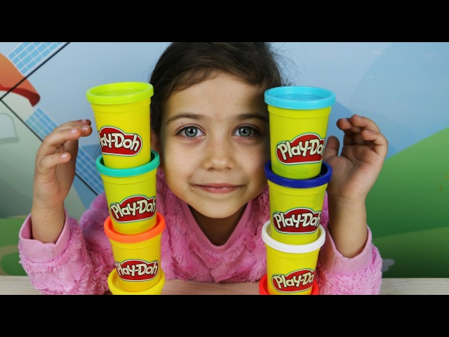 Учим цвета на английском вместе с Эмилюшей и Play Doh! Learn Colors with Emily and Play Doh