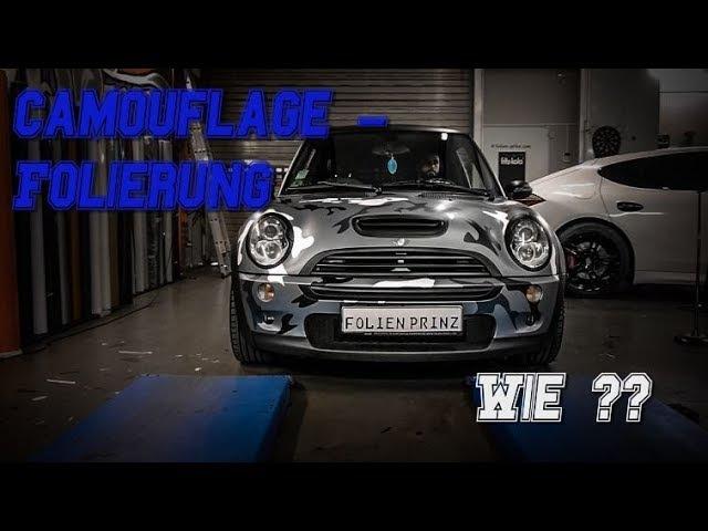 Camouflage Folierung - Wie wird ein Auto in Camo foliert ? Mini Cooper S