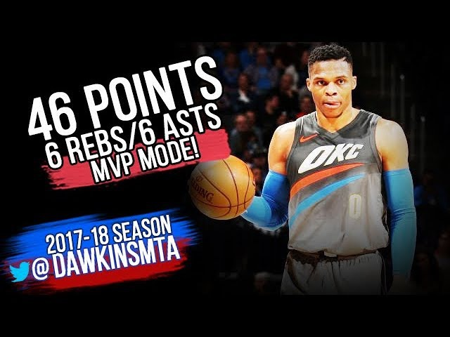 Russell Westbrook NASTY 46 Pts 2018.01.25 vs Wizards - 46 Pts, 6 Rebs, 6 Assts! | FreeDawkins