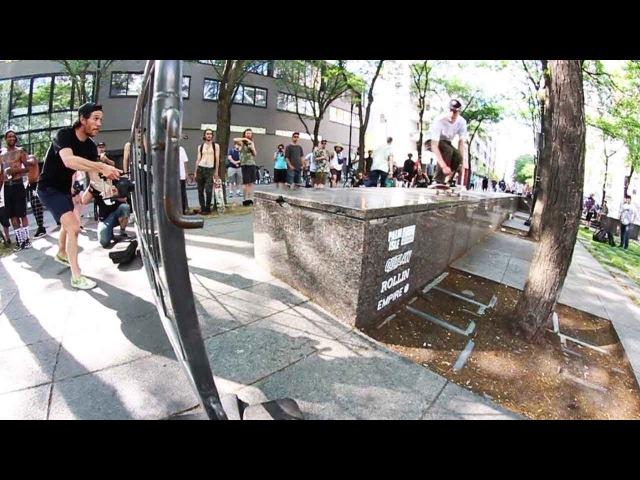 Ethernal Skate Films / Montreal Rollout 2017 Best Trick contest @ Peace Park