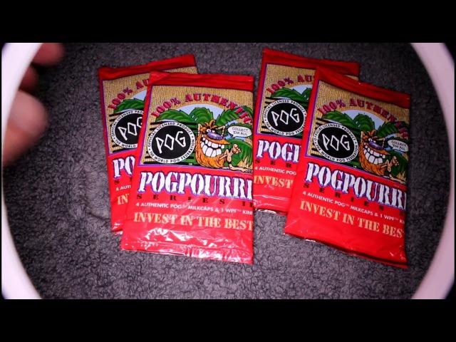 Opening old 90's stock POGS packs from 1994 milkcap game
