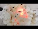 Светящийся музыкальный мишка 50 см.