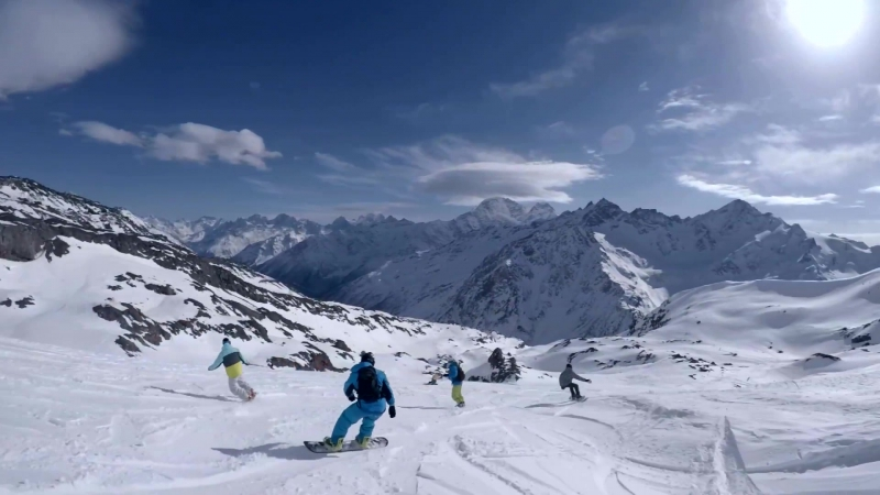 Elbrus opening of the season, freeride