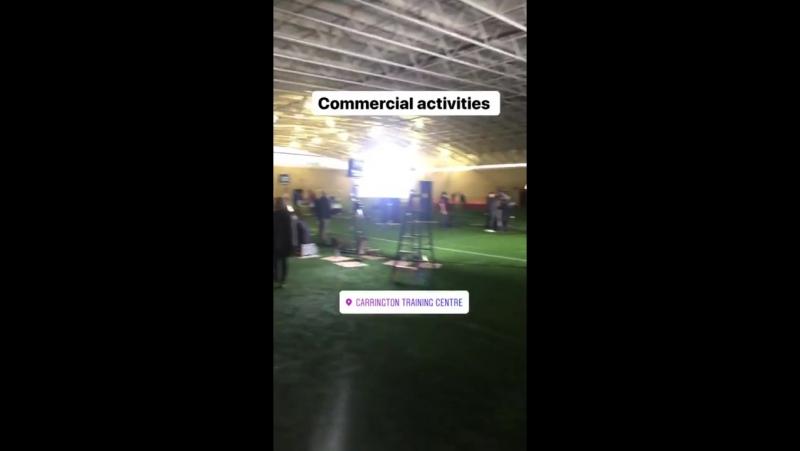 Herrera insta story indicating commercial activities happening at Carrington