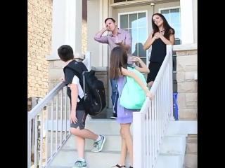 как родители провожают детей