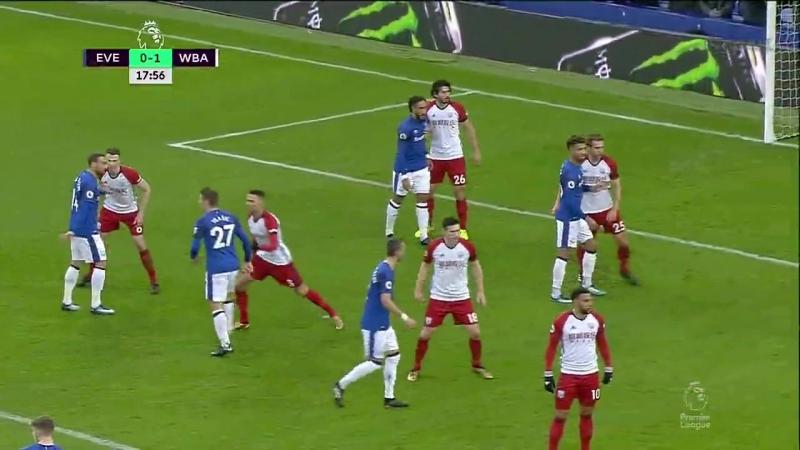 EPL 2017-18. Everton - WBA (1 half)