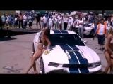 Car washing beautiful model girls in bikinis