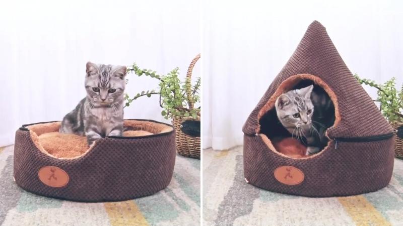 HOOPET собака кошка палатка кровать Дом моющиеся грязь мягкая собака шоколадный дом кошка кровать питомник двусторонняя подушки