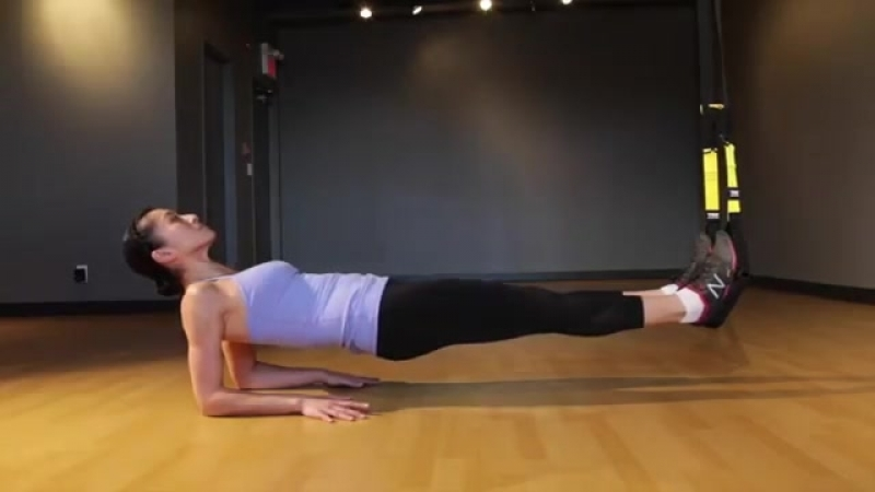 TRX Supine Plank on Elbows