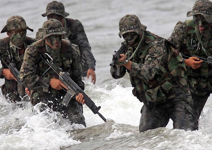Учения спецназа Южной Кореи
