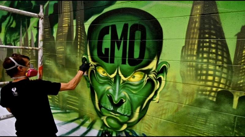 Graffiti Artists vs. GMOs (Genetically Modified Organisms)
