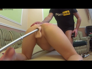 Redhead girl fucks with a sex machine and does blowjob | wirtoly