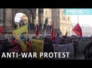 Anti war protesters rally at Munich Security Conference