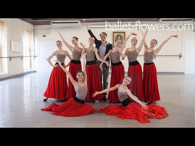 Vaganova Ballet Academy. Lyrical dance from Laurencia. Сharacter Dance exam