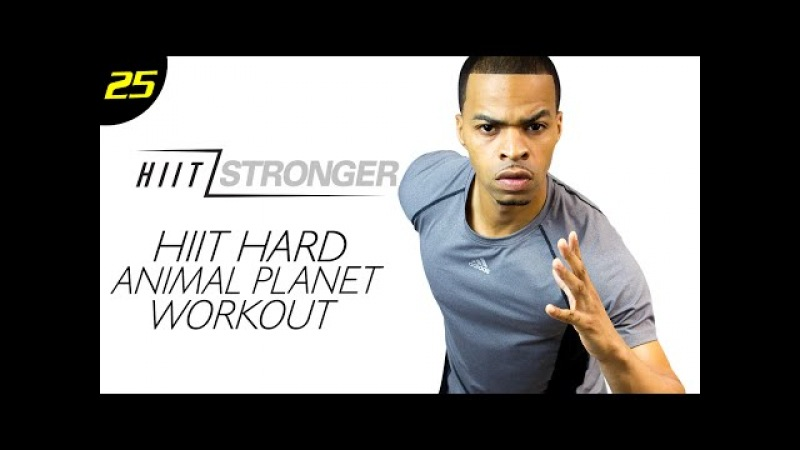 30 Min. HIIT: Animal Planet BEAST Mode Workout | HIIT/STRONGER: Day 25