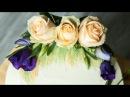 Двухъярусный торт с живыми цветами. Как собрать и украсить