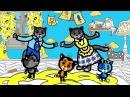 Раскраски - Считалочки (Папа пальчик) | Три котенка - мультик для малышей