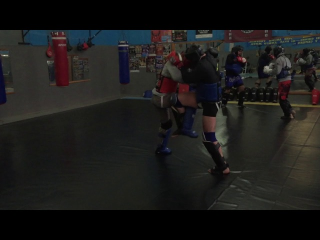Pitbull-Sambir training К-1. muay thai. Cossack Fight