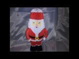 модульное оригами красивый дед мороз (modular origami Santa Claus) на новый год мастер класс